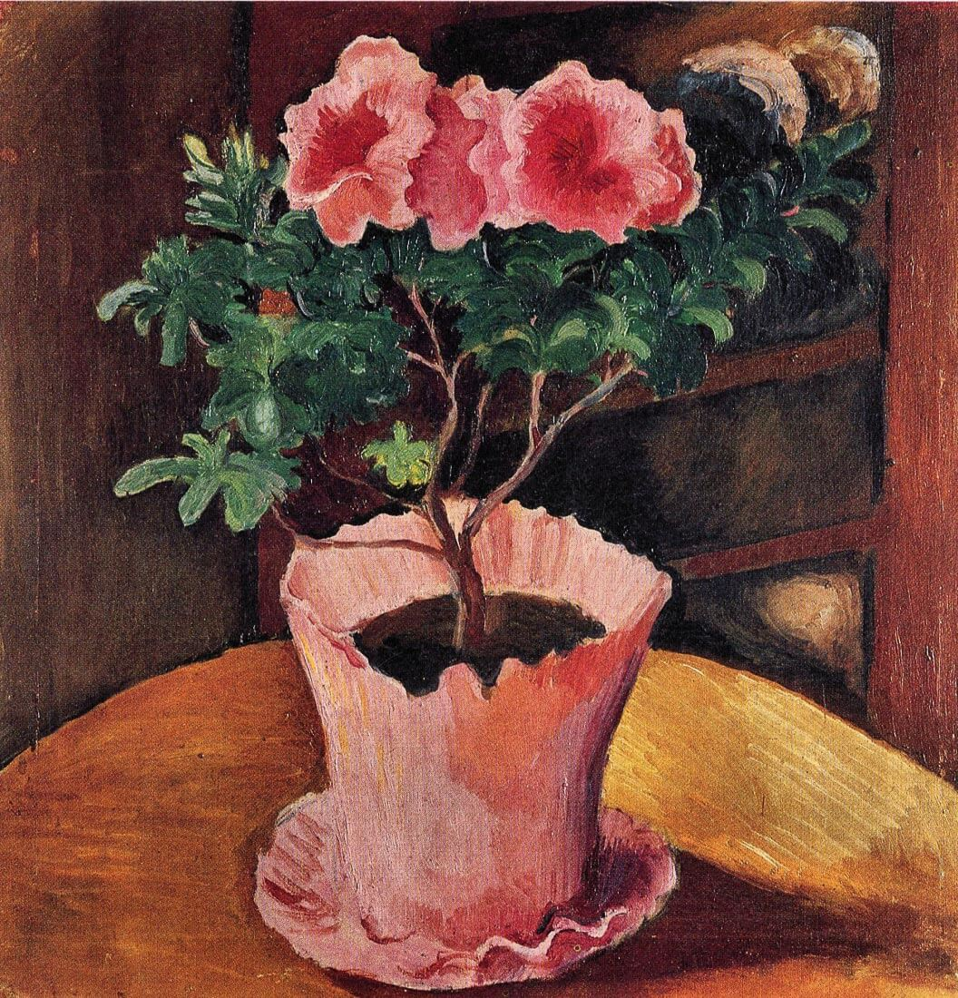 Rose Azaleas - August Macke