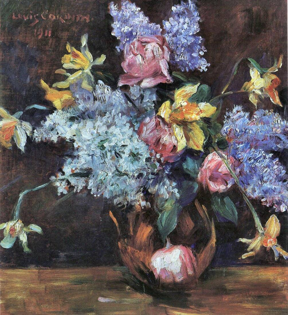 Roses, lilacs and daffodils - Lovis Corinth