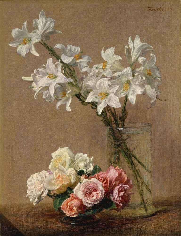 Roses and Lilies - Henri Fantin-Latour