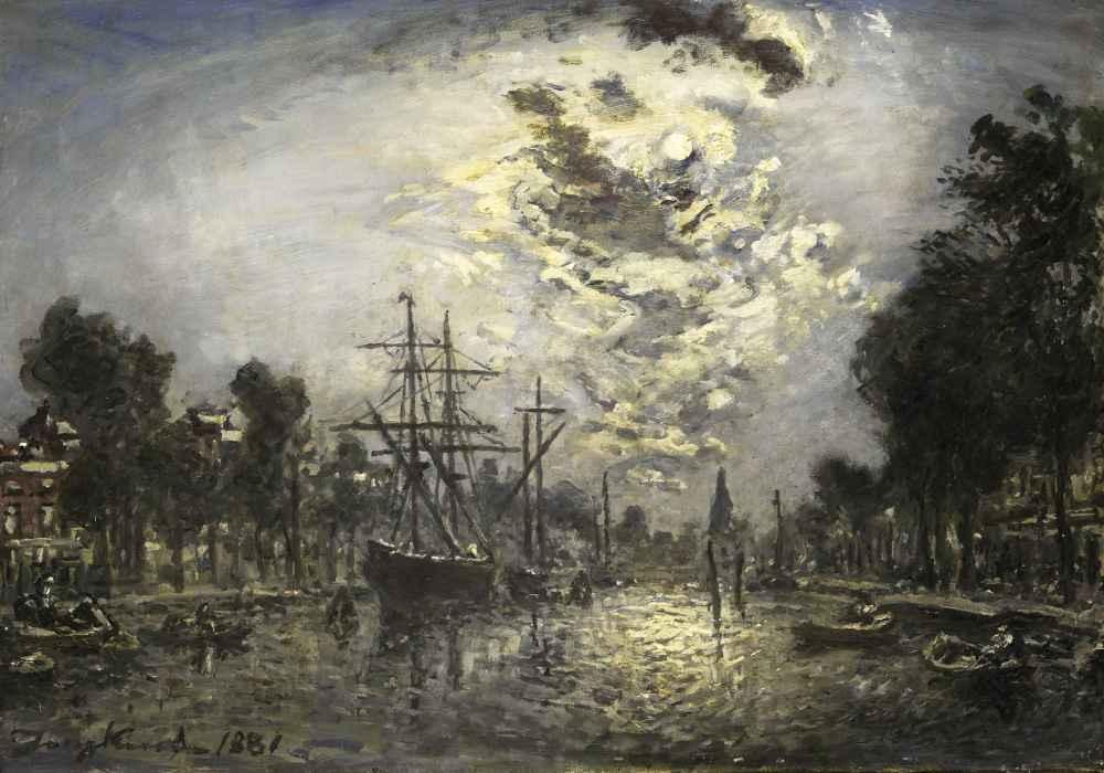 Rotterdam in the Moonlight - Johan Barthold Jongkind