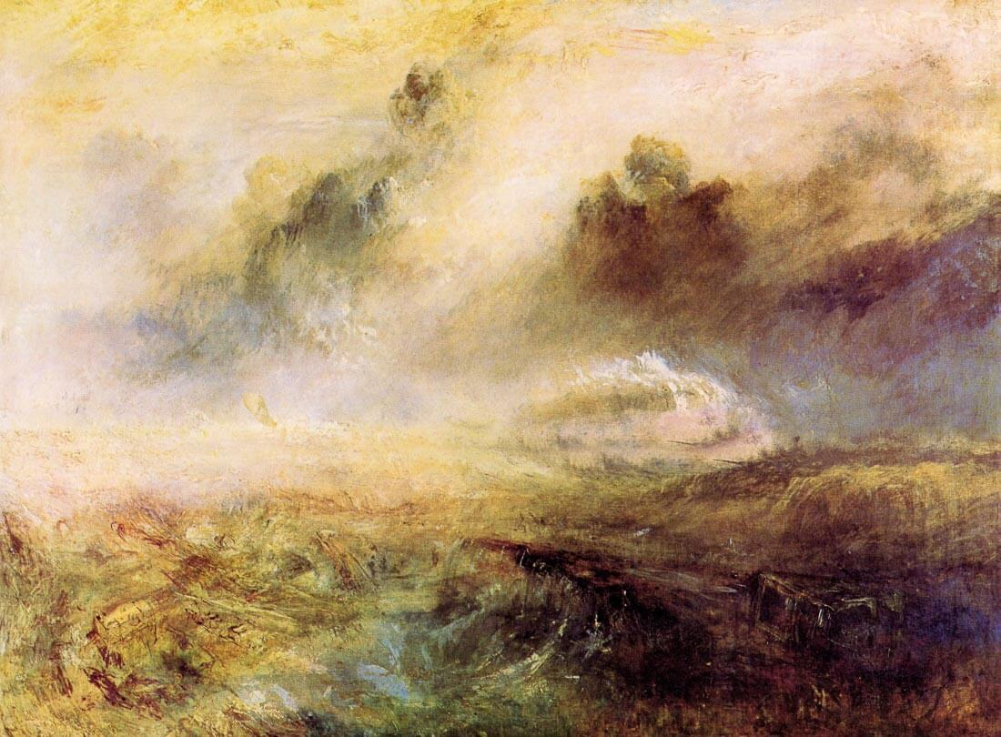 Rough Seas with wreckage - Joseph Mallord Turner
