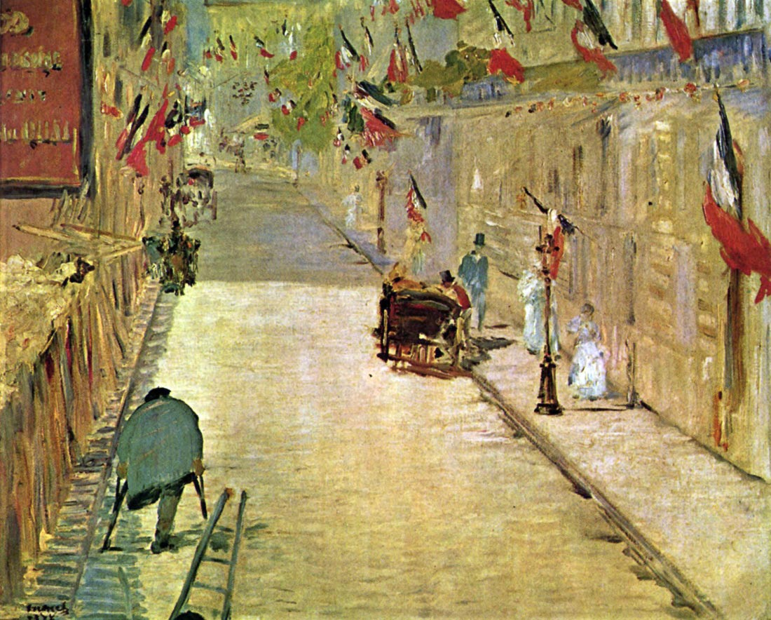 Rue Mosnier with Flags - Manet