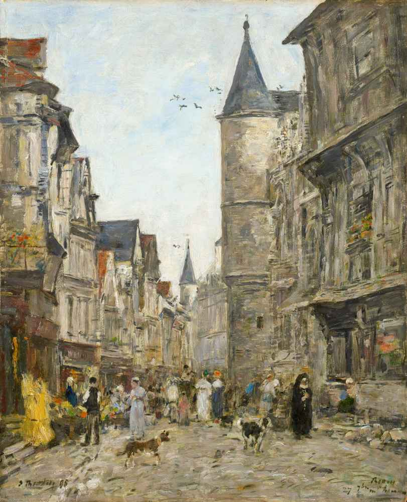 Rue Saint-Romain, Rouen - Eugene Boudin