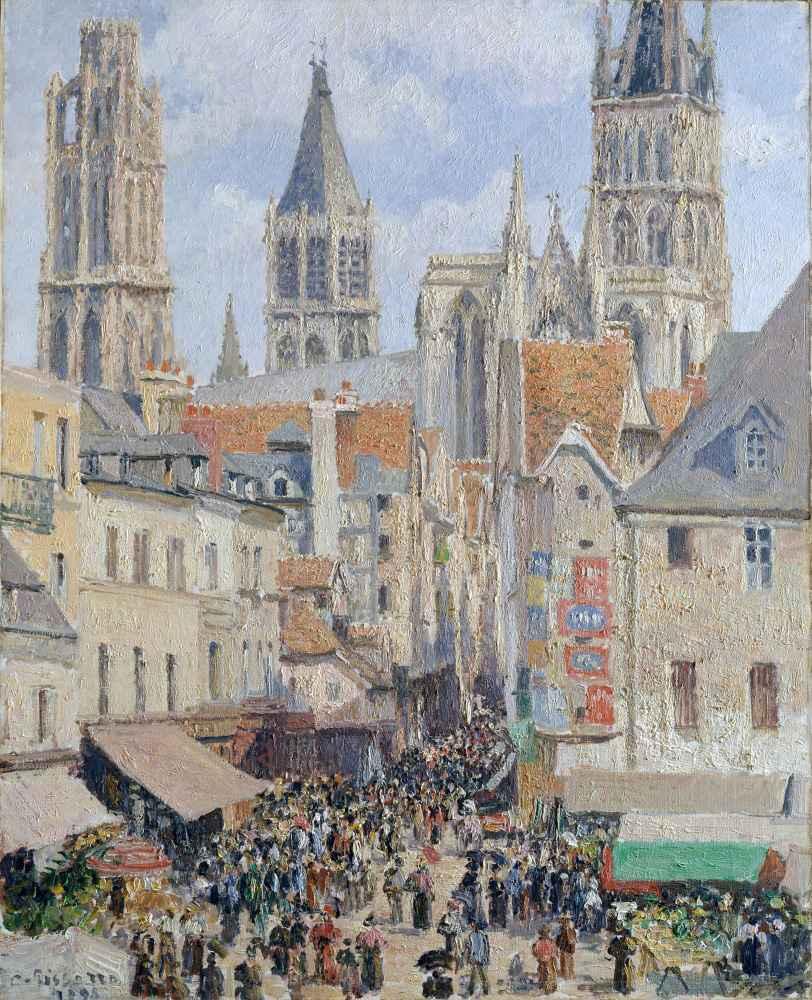 Rue de lÉpicerie, Rouen (Effect of Sunlight) - Camille Pissarro