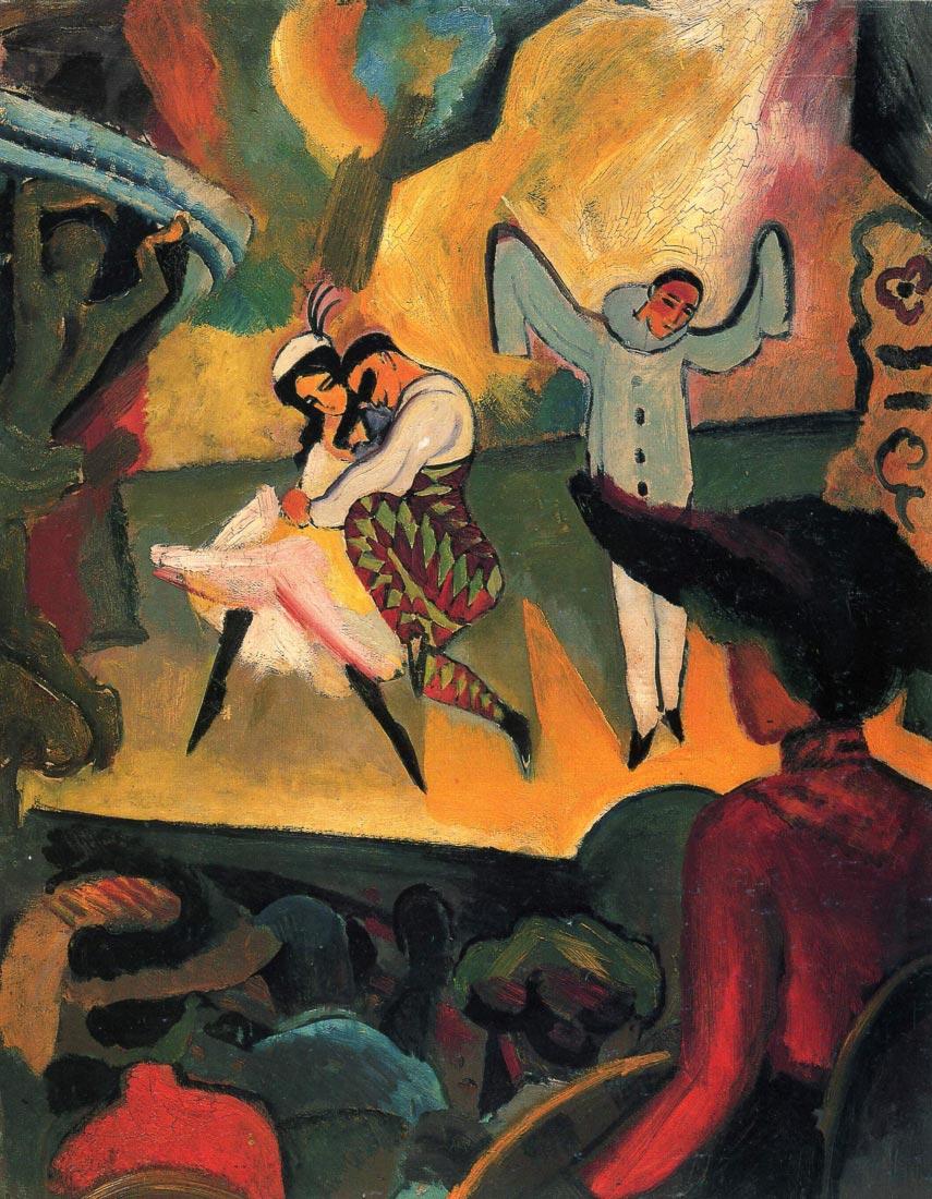 Russian ballet - August Macke