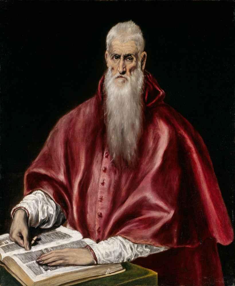 Saint Jerome as Scholar - El Greco