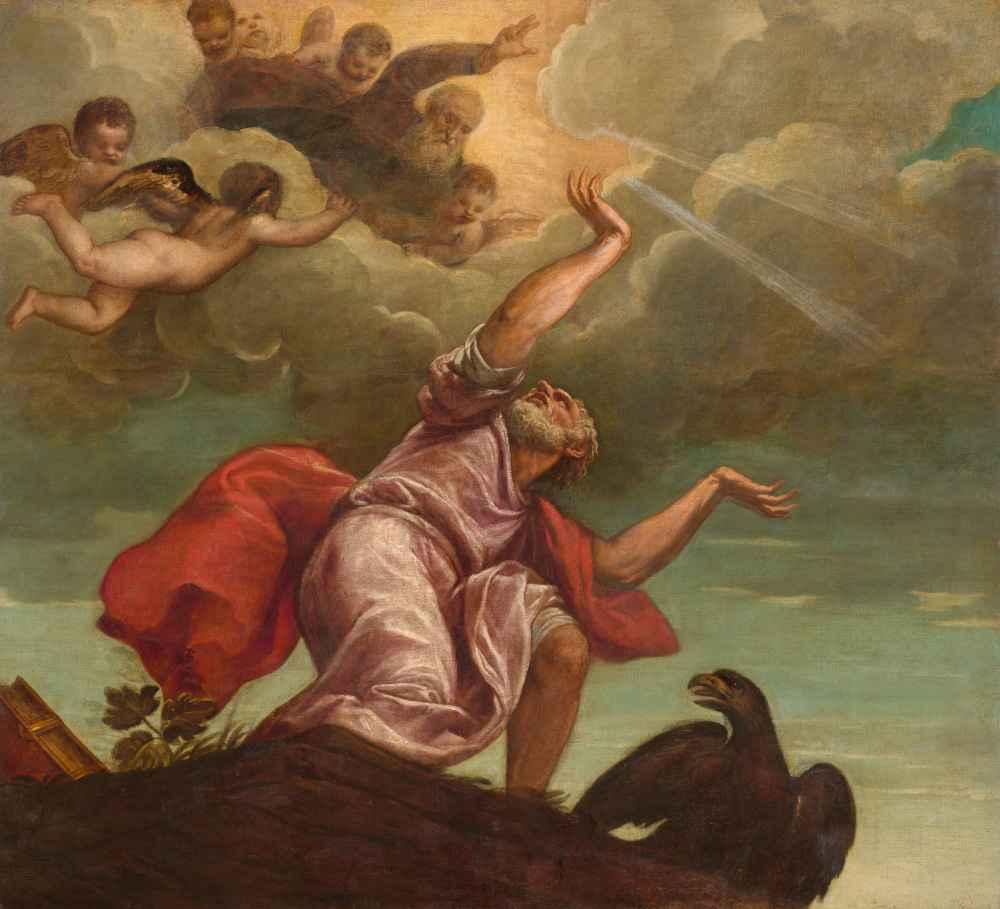 Saint John the Evangelist on Patmos - Tycjan