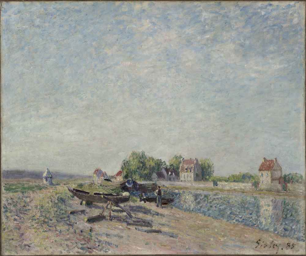Saint-Mammès, Loing Canal - Alfred Sisley