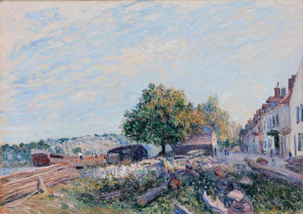 Saint Mammès-Morning - Alfred Sisley