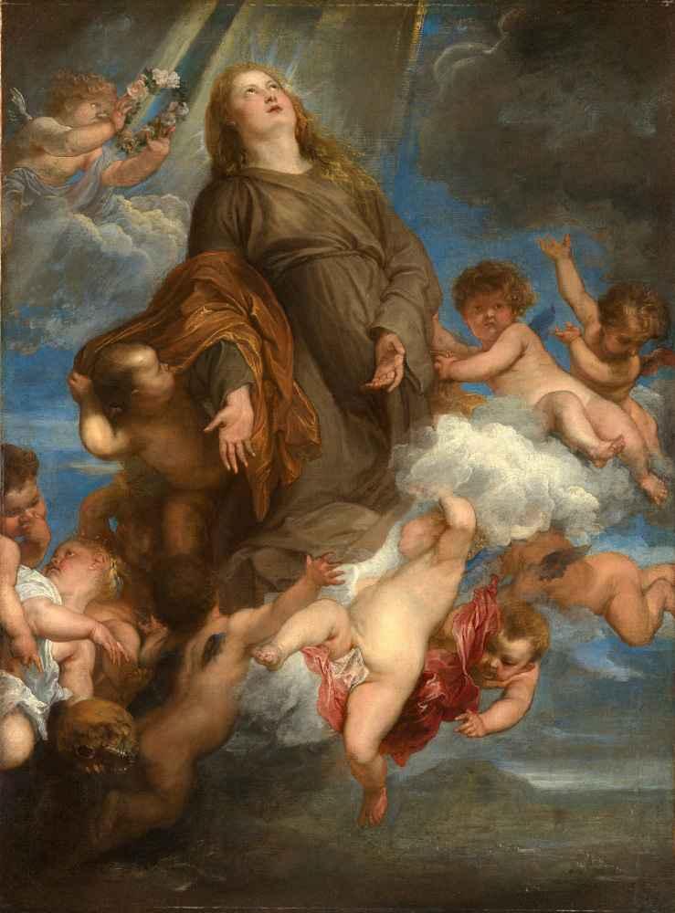 Saint Rosalie Interceding for the Plague-stricken of Palermo - Antoon