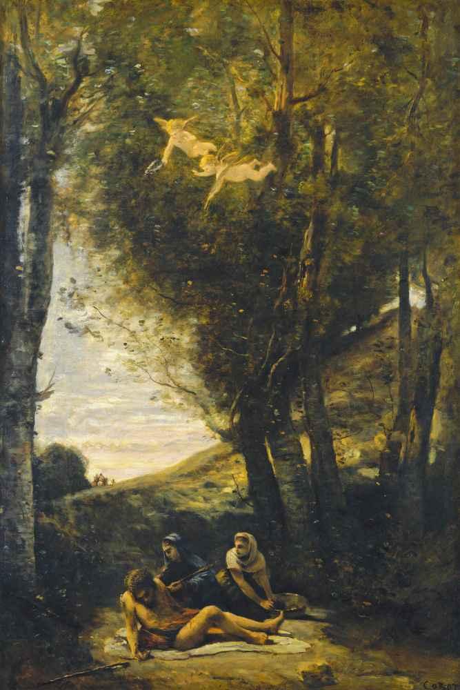 Saint Sebastian Succored by the Holy Women - Jean Baptiste Camille Cor