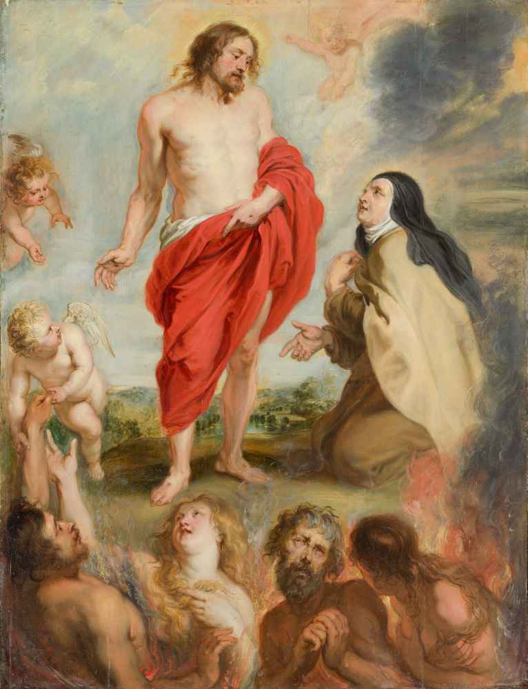 Saint Teresa of Ávila Interceding for Souls in Purgatory - Peter Paul