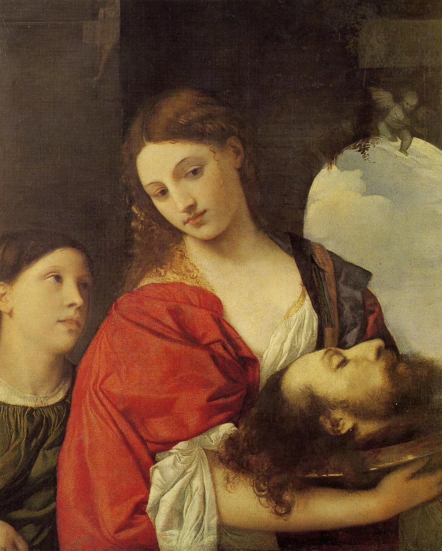Salome with Johannes baptists head - Titian