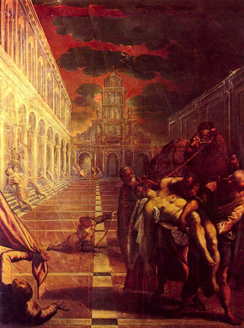 Salvage of the corpse of St. Mark - Tintoretto