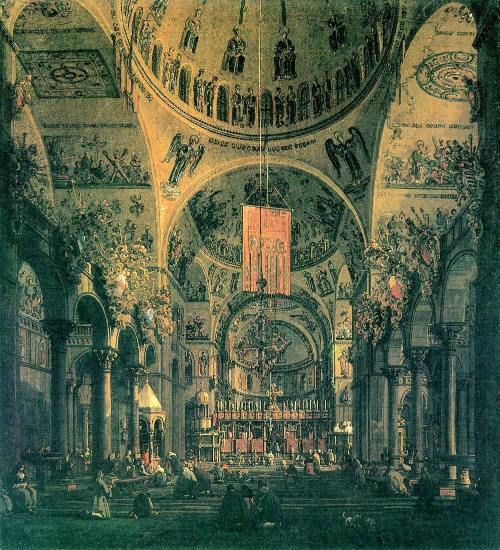 San Marco, inside view - Canaletto