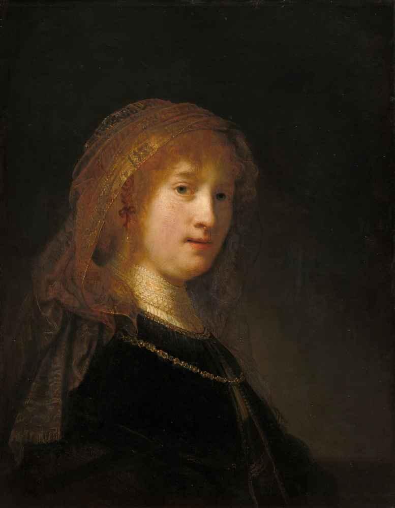 Saskia van Uylenburgh, the Wife of the Artist - Rembrandt Harmenszoon