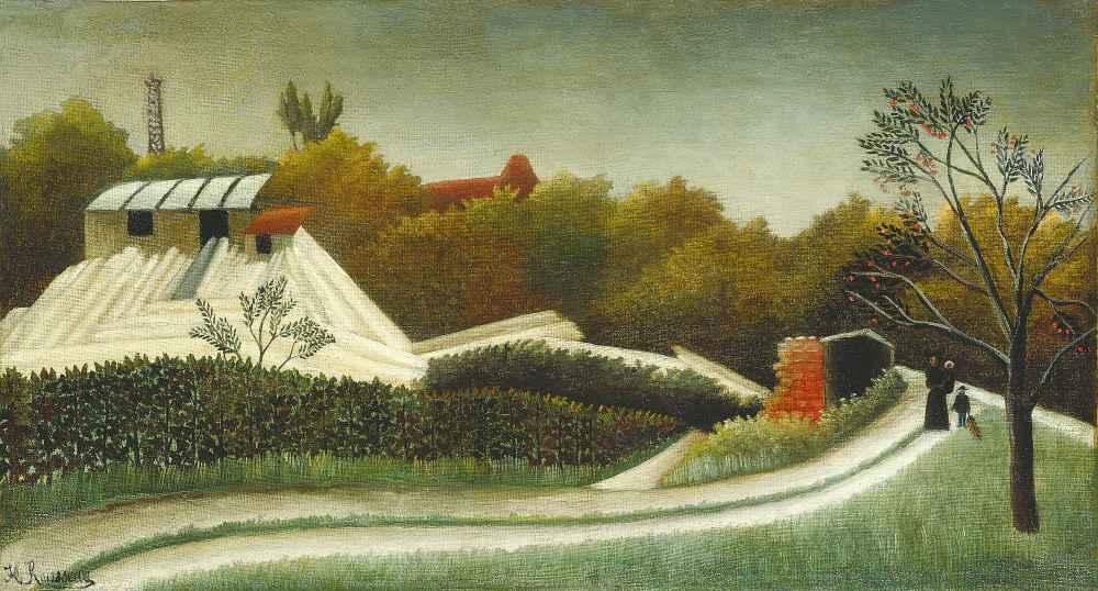 Sawmill, Outskirts of Paris - Henri Rousseau
