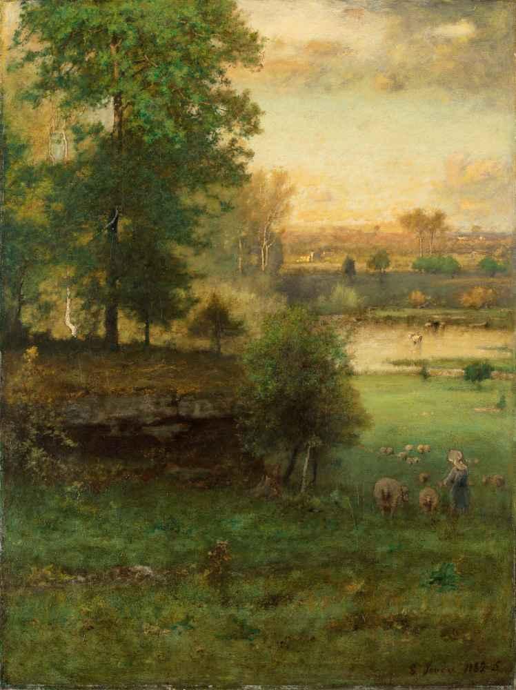Scene at Durham, an Idyll - George Inness