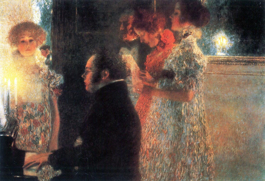 Schubert at the piano - Klimt