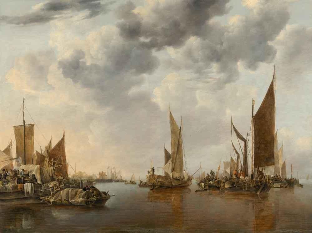 Seascape with Ships - Jan van de Cappelle