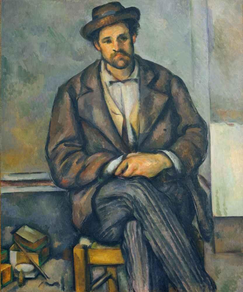 Seated Peasant - Paul Cezanne