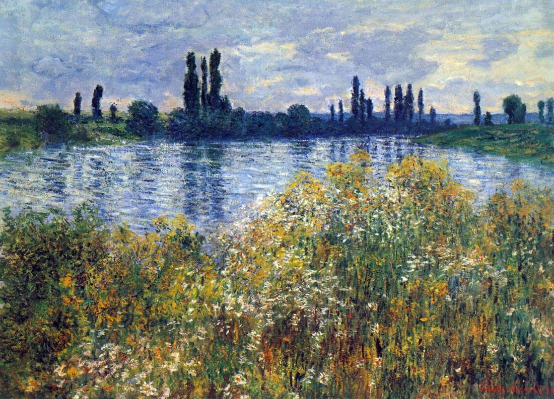 Seine shores at Vétheuil - Monet