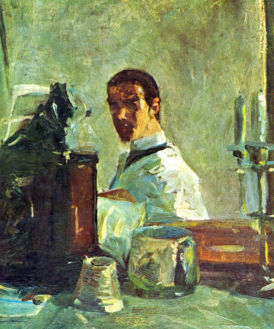 Self Portrai looking in a Mirror - Toulouse-Lautrec