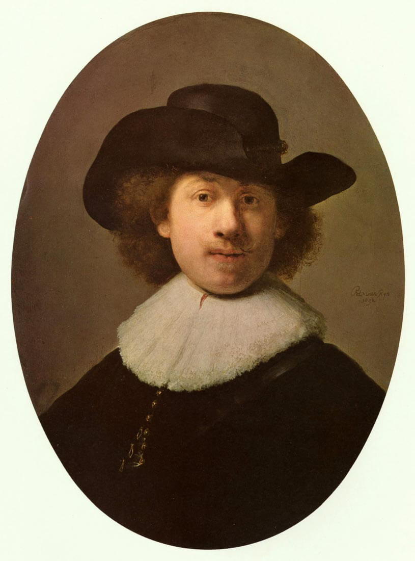 Self-Portrait Oval, - Rembrandt