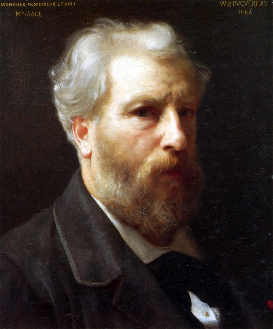 Self-Portrait Presented To M Sage - Bouguereau