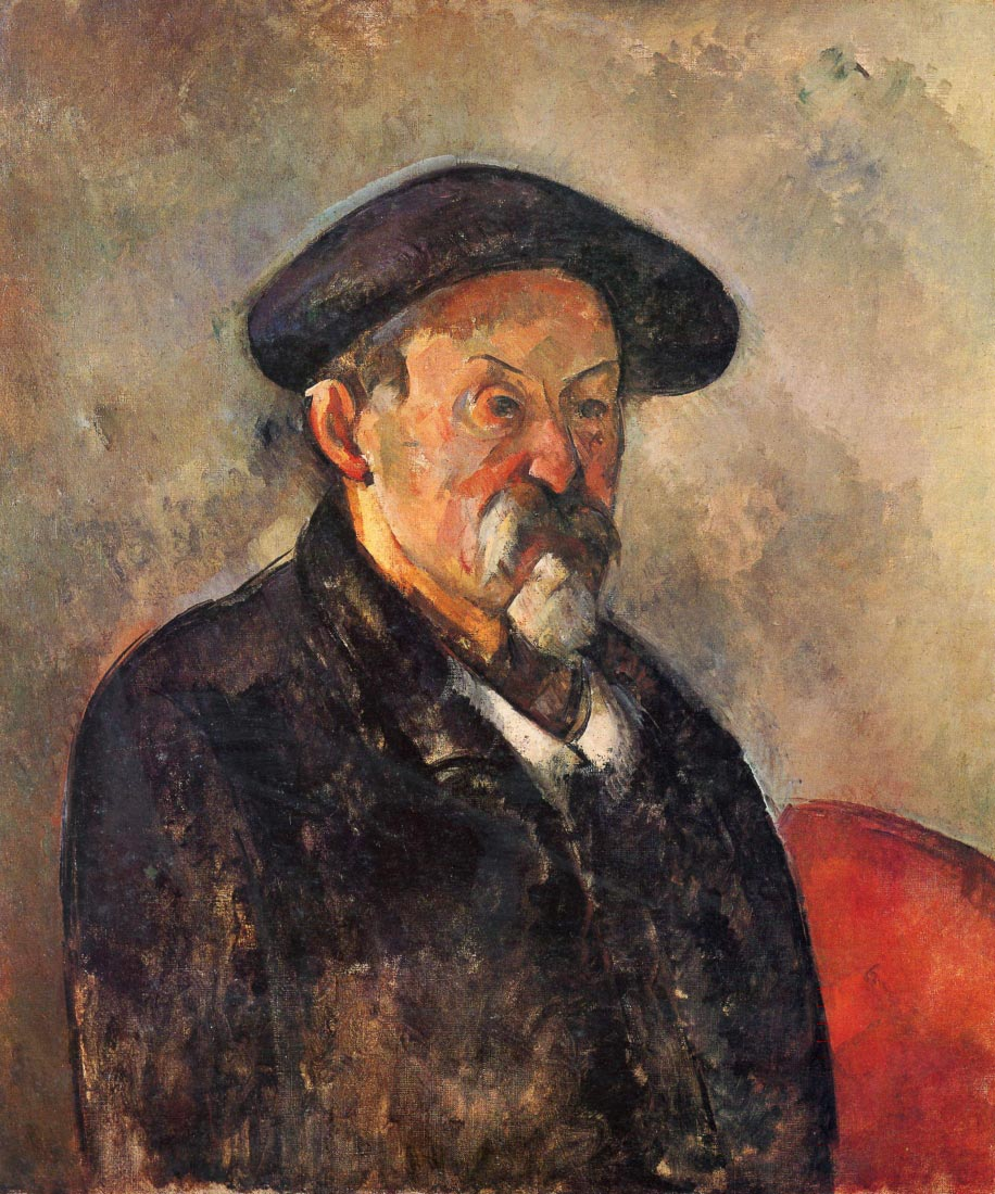 Self Portrait with Beret - Cezanne