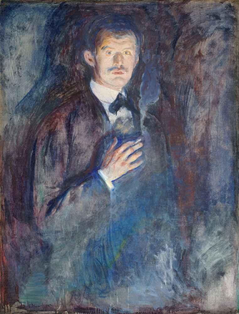 Self-Portrait with Cigarette - Edward Munch