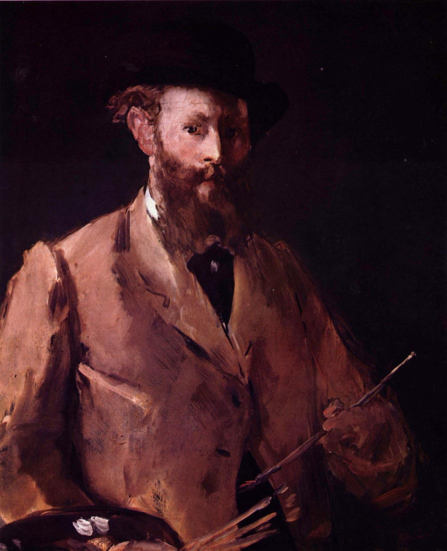 Self Portrait with Pallette - Manet
