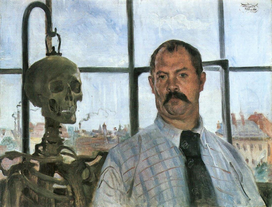 Self Portrait with Skeleton - Lovis Corinth
