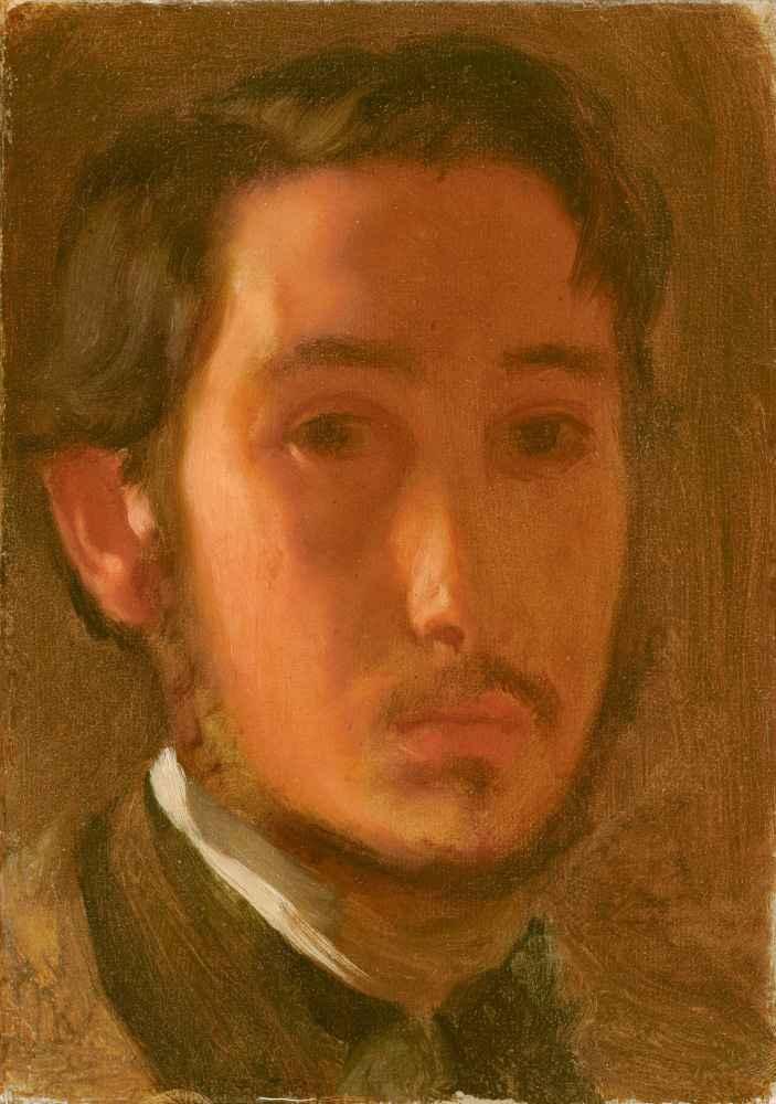 Self-Portrait with White Collar - Edgar Degas
