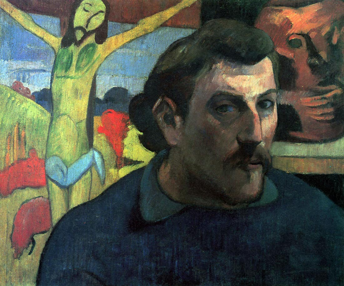 Self Portrait with Yellow Christ - Gauguin