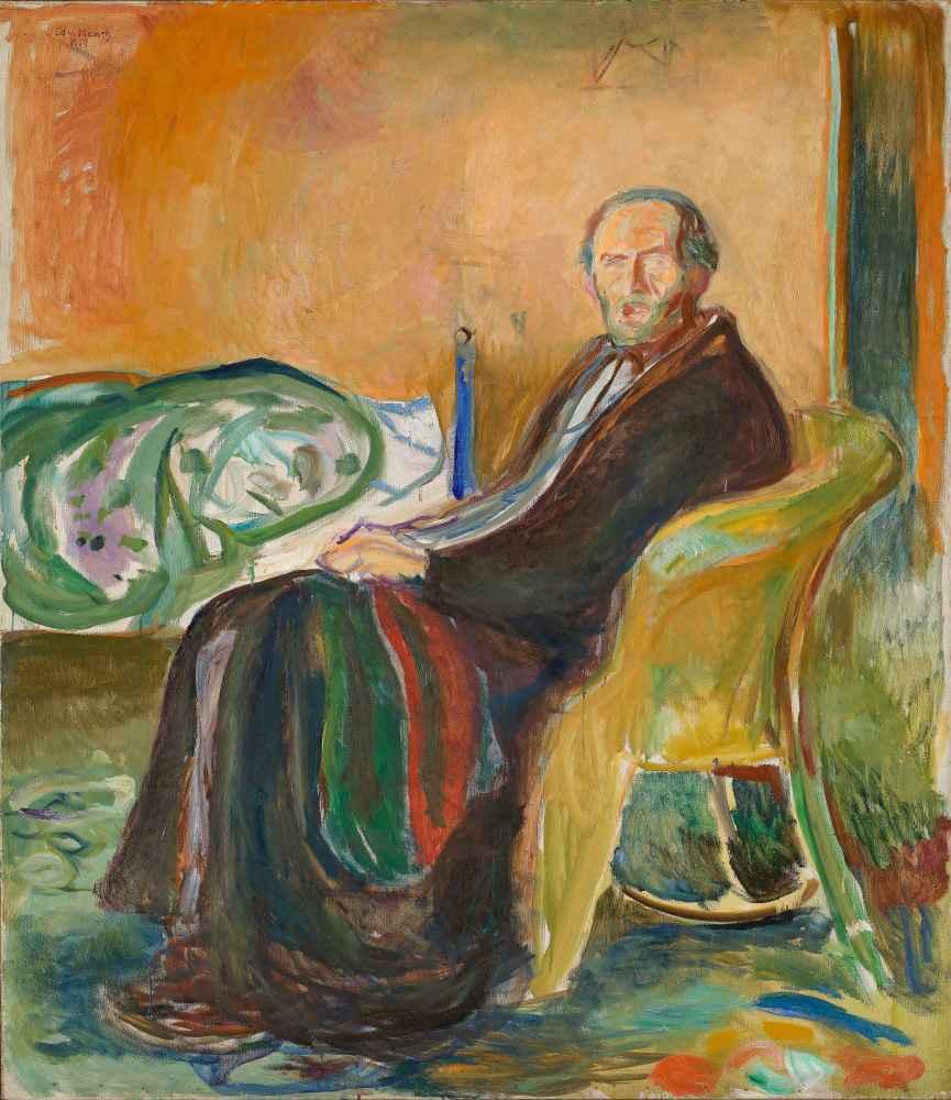 Self-Portrait with the Spanish Flu - Edward Munch