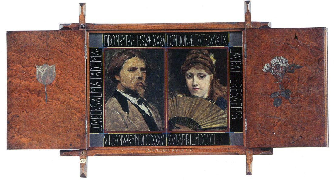 Self-portrait by Lawrence Alma-Tadema and Laura Theresa Epps - Alma-Ta