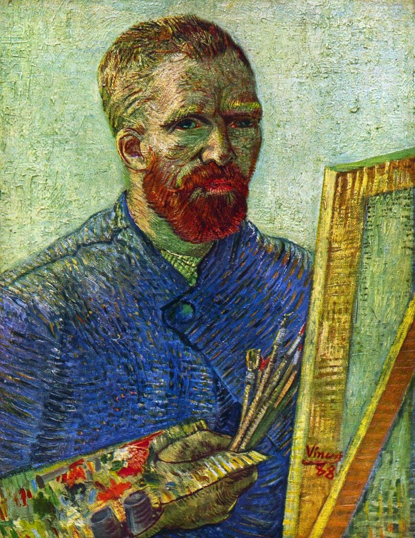 Self-portrait in front easel - Van Gogh