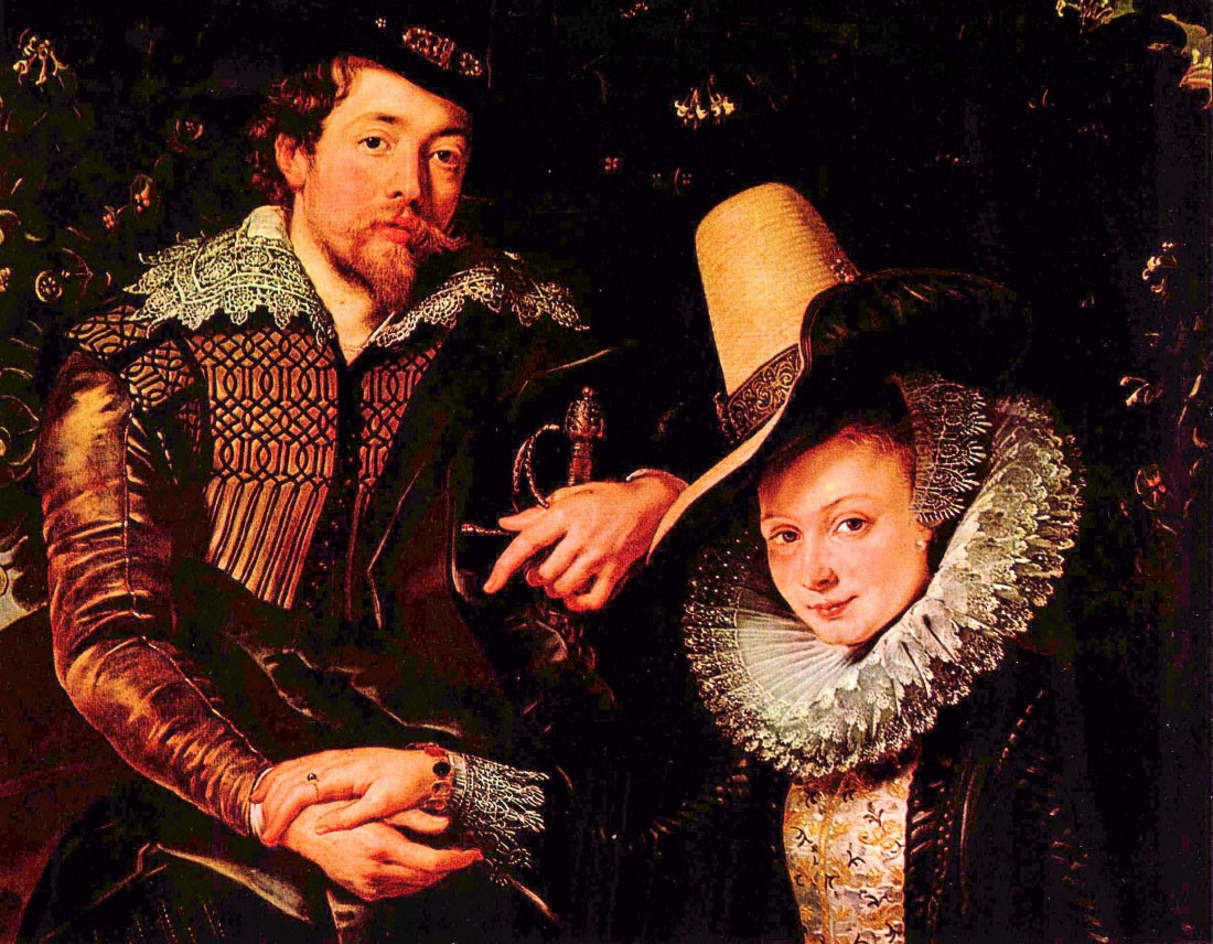 Self-portrait of the artist and his wife, Isabella Brant - Rubens