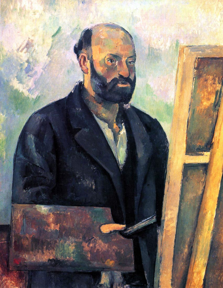 Self-portrait with Pallette - Cezanne