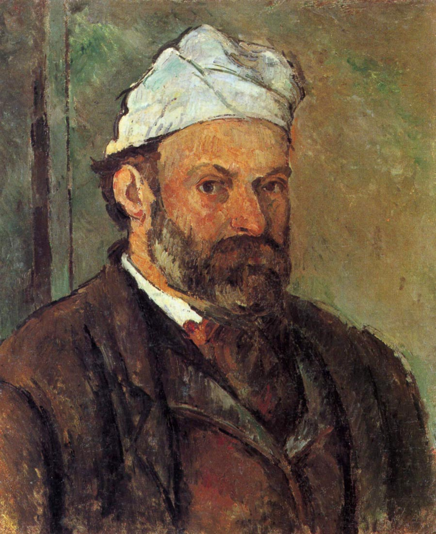 Self-portrait with a white turban - Cezanne