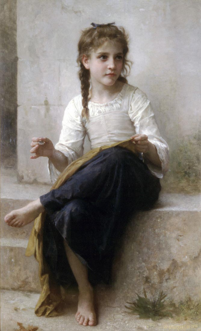 Sewing - Bouguereau