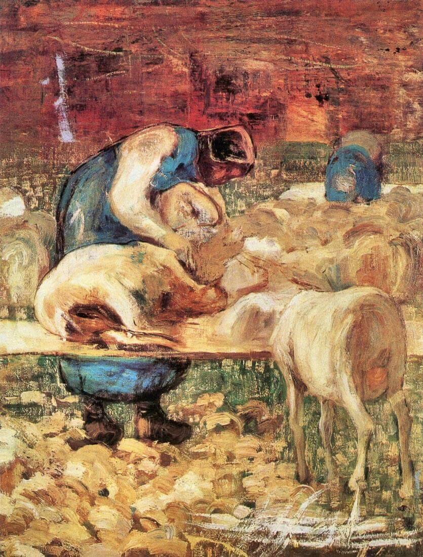 Shearing - Giovanni Segantini