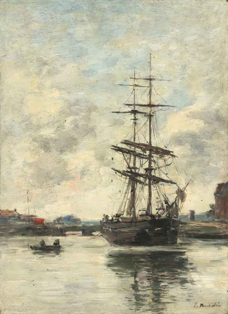 Ship on the Touques - Eugene Boudin