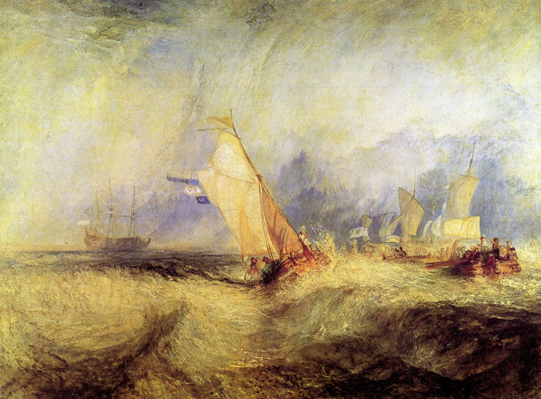 Ships at sea - Joseph Mallord Turner