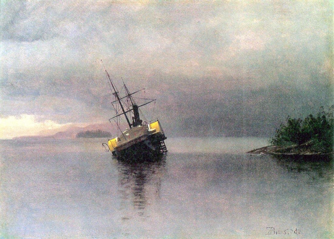 Shipwreck in Loring bay Alaska - Bierstadt