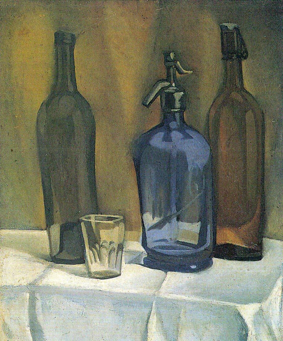 Siphon and bottles - Juan Gris