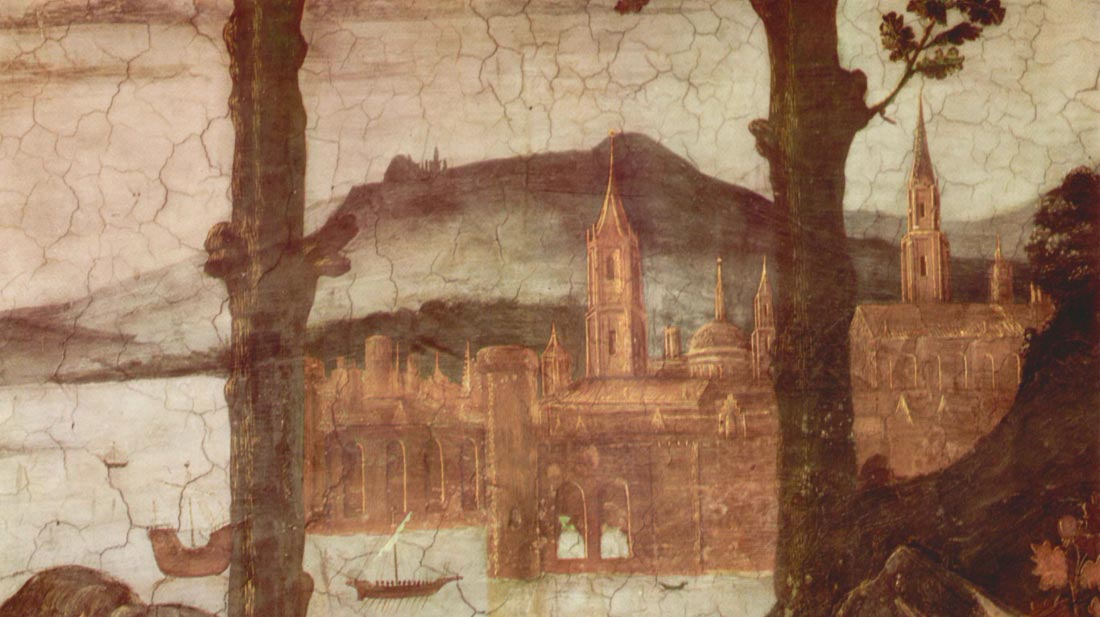 Sistine Chapel - The Temptation of Christ, detail - Botticelli