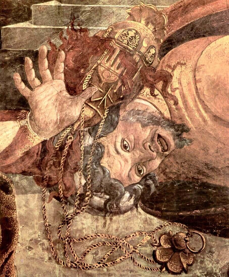 Sistine Chapel - punishing the Levites - Botticelli