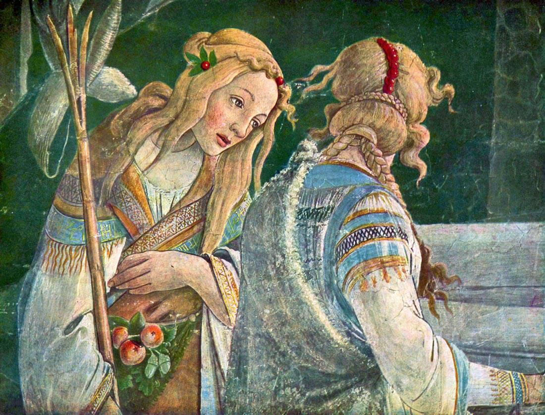 Sistine Chapel -The youth of Moses Detail 2 - Botticelli